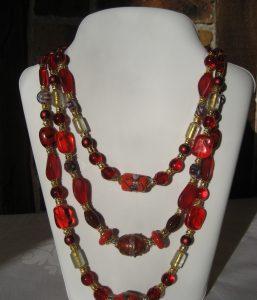 Art. Boheme Rosso 3 fili Murano