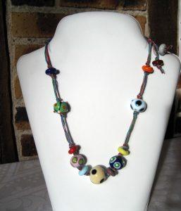 Art.171 Perle sur fil coton Murano