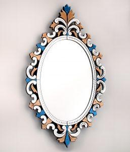 Verre de murano lustres et miroirs murano d coration for Miroir venitien murano