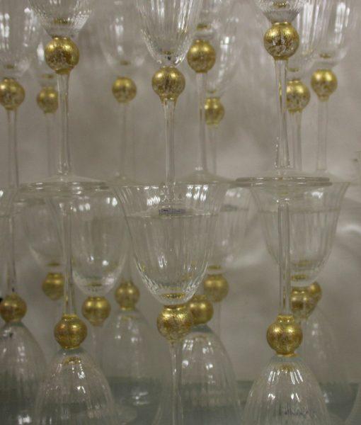Cristallo Rigato palla oro