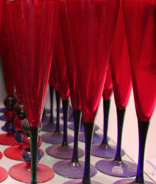 Flutes Rosso palla soffiata
