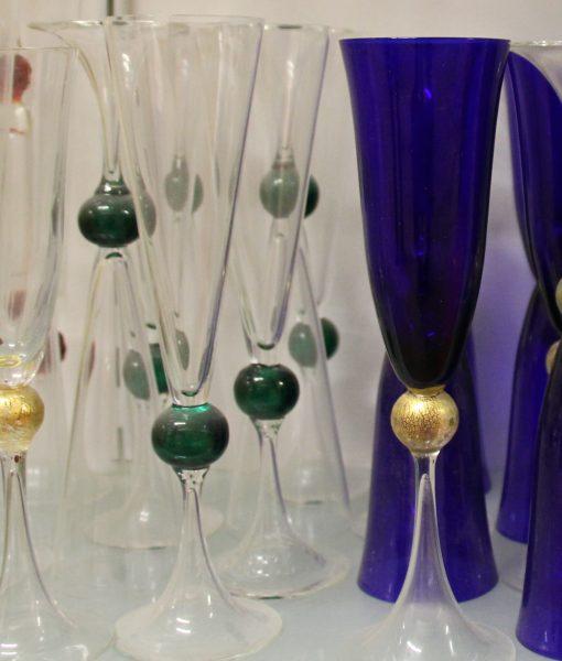 Flutes palla oro colorato